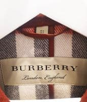 Burberry Women's Red Wool Duffel Jacket Size UK 4 #2/2027/A